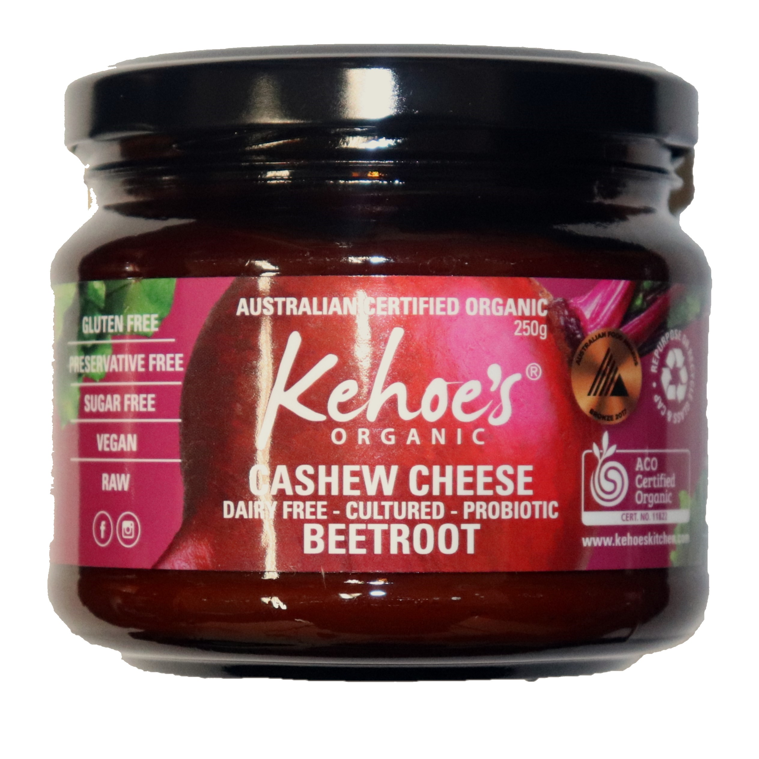 Cashew Cheese Dip – Beetroot 250g