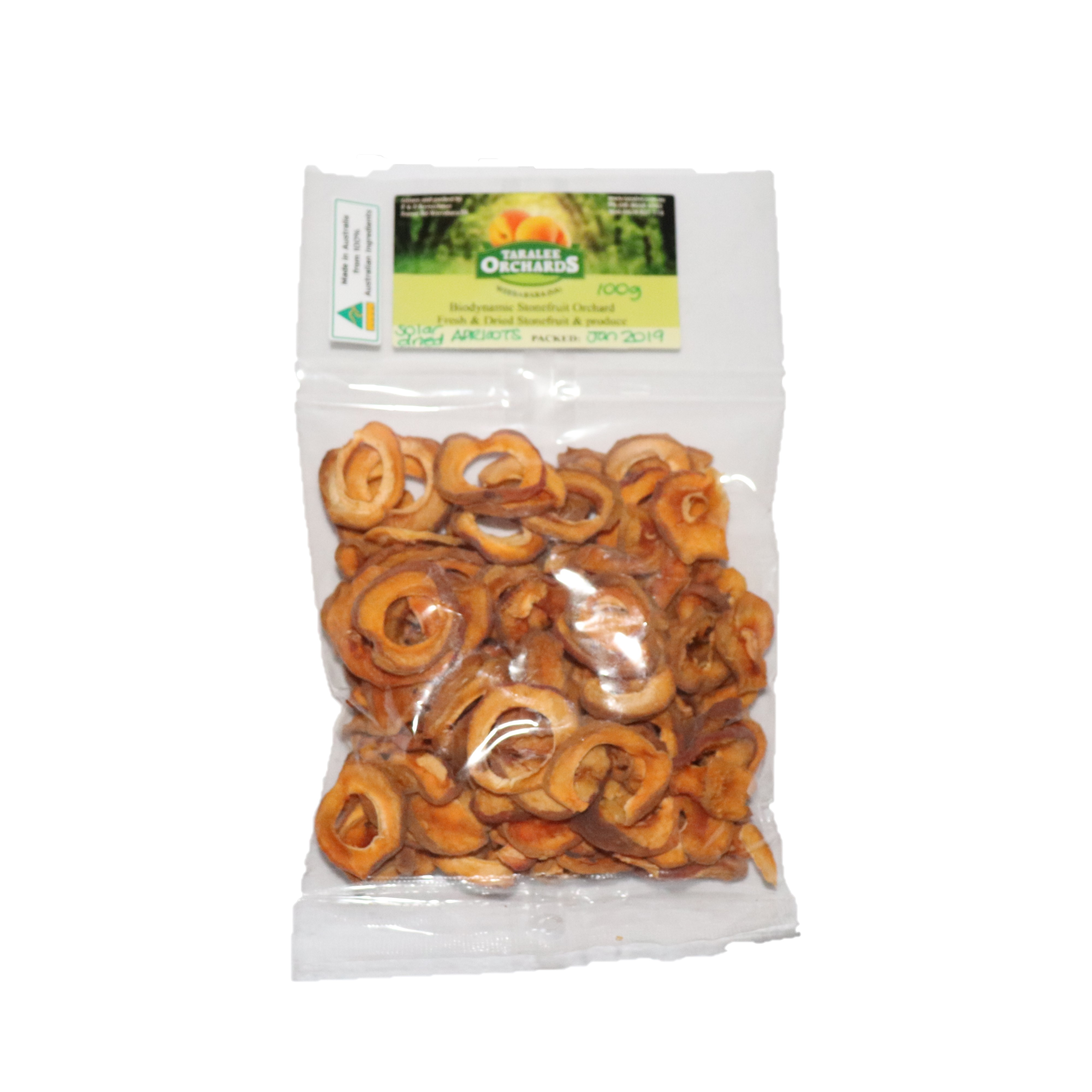 Dried Apricot – Solar Dried 100g