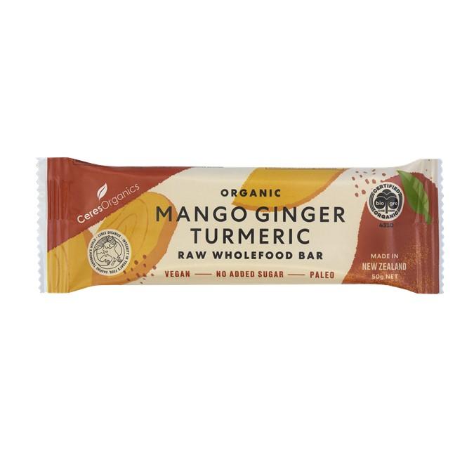 Raw Bar – Organic Mango, Ginger & Turmeric 16x50g