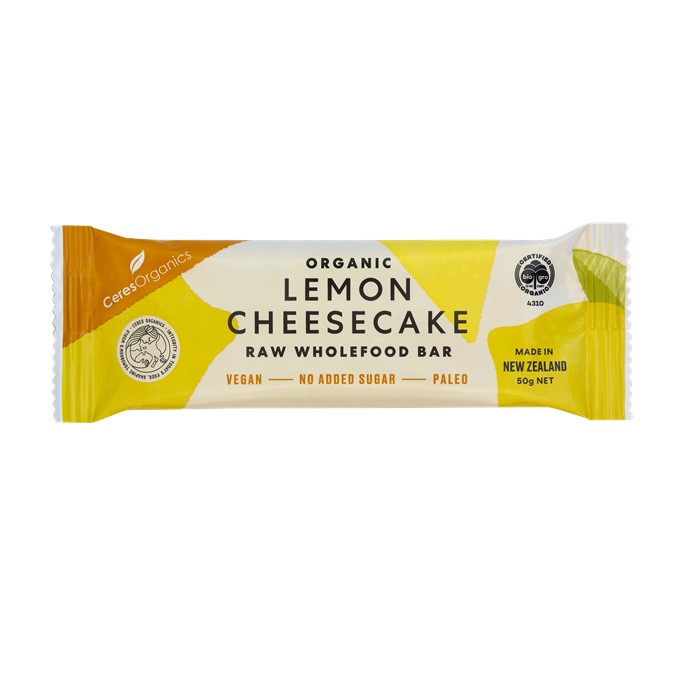 Raw Bar – Organic Lemon Cheesecake 16x50g