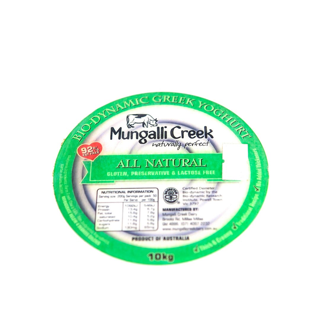 Yoghurt – Greek Natural 10kg