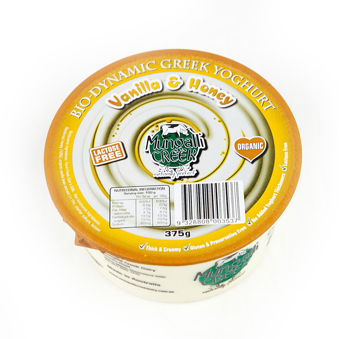 Yoghurt – Greek Vanilla & Honey 375g