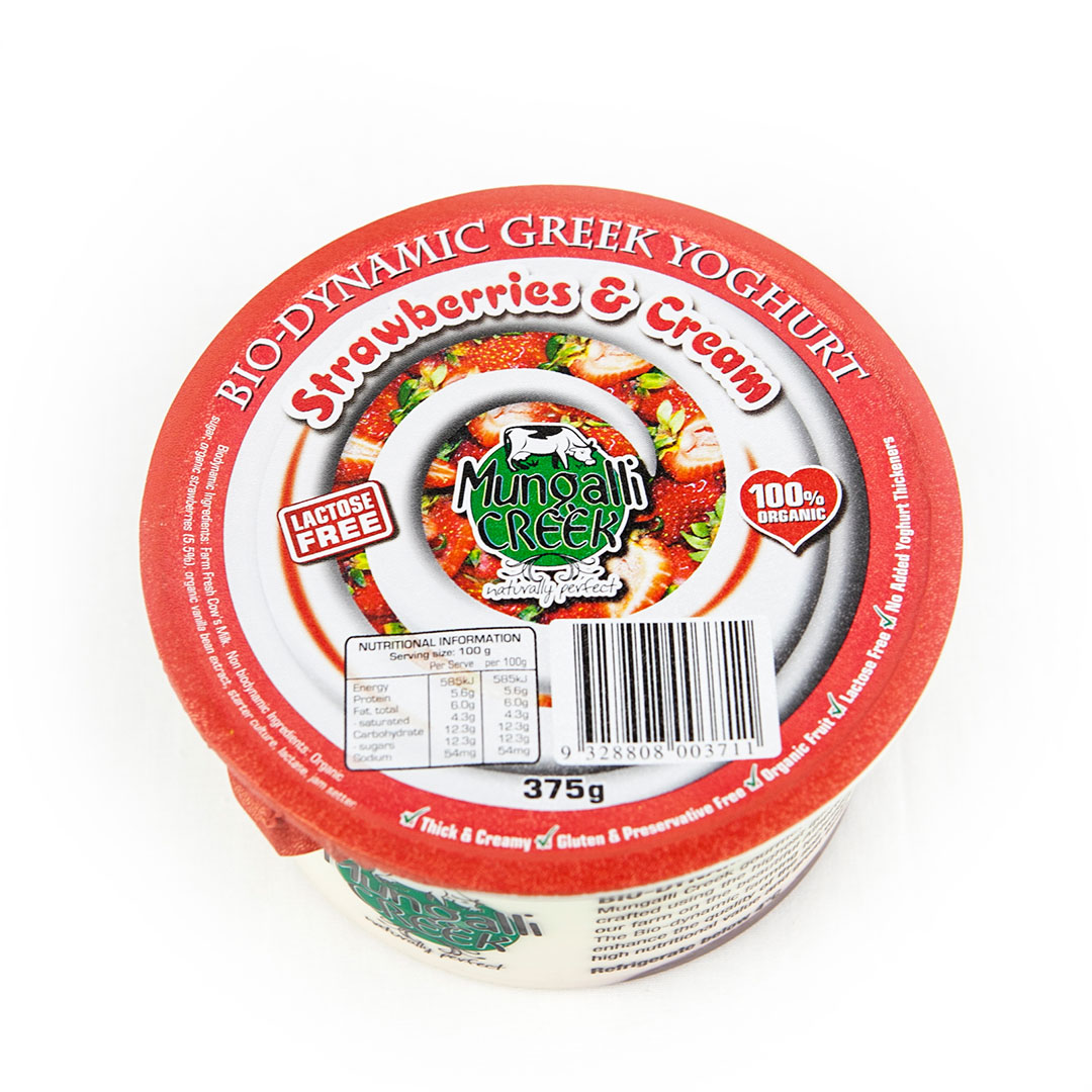 Yoghurt – Greek Strawberries & Cream 375g
