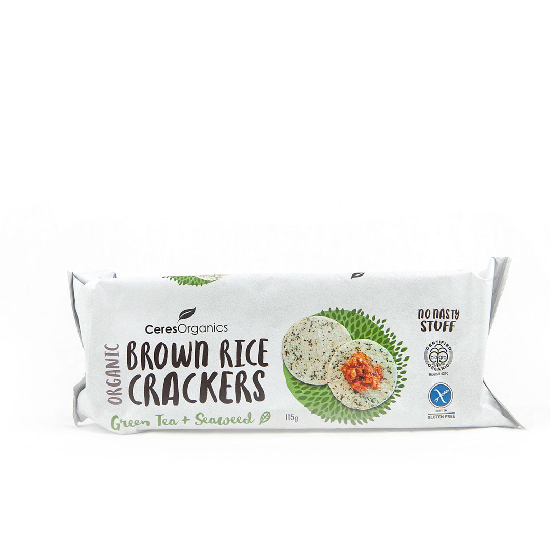Crackers – Brown Rice Seaweed 12x115g