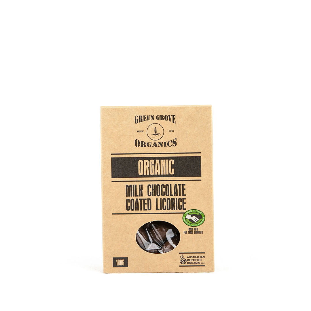 Licorice – Milk Chocolate 180g
