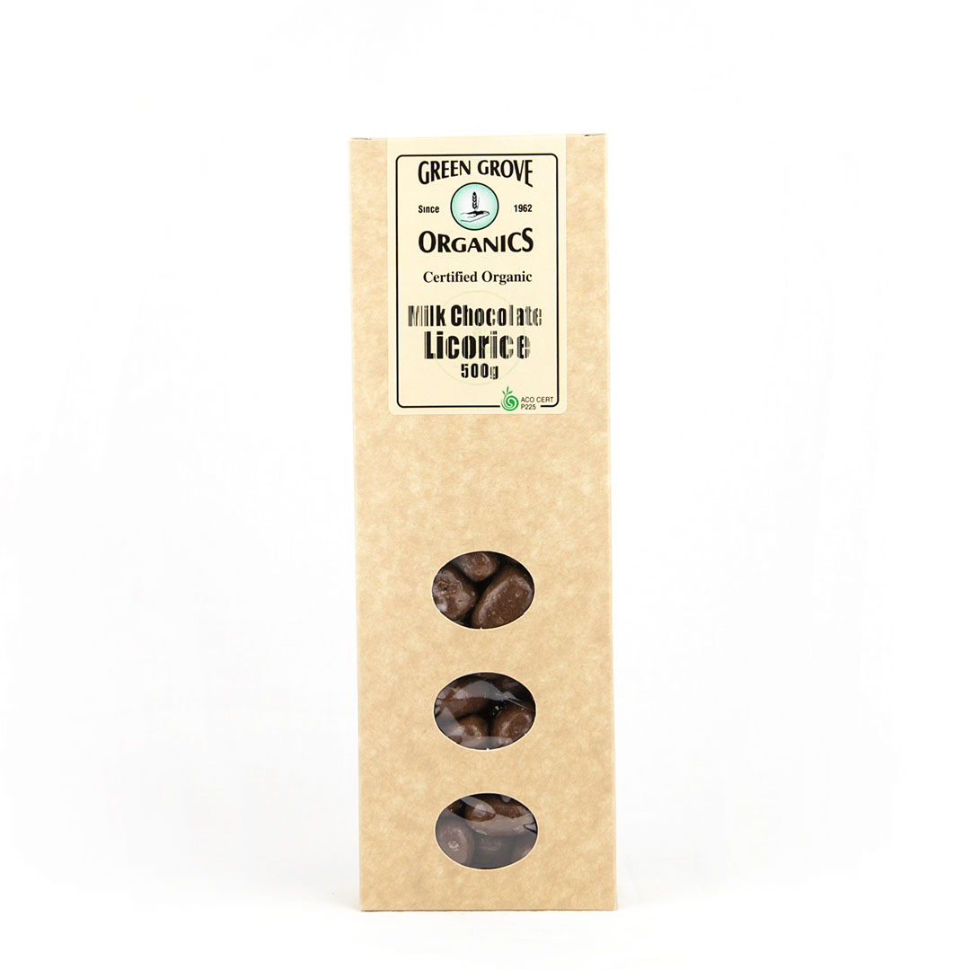 Licorice – Milk Chocolate 500g