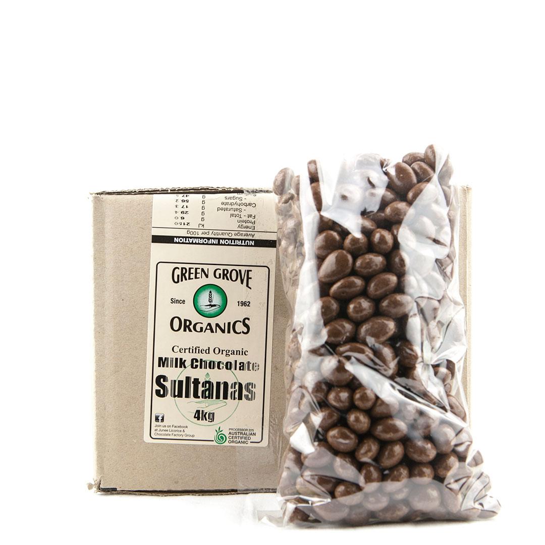 Sultanas – Milk Chocolate 4kg