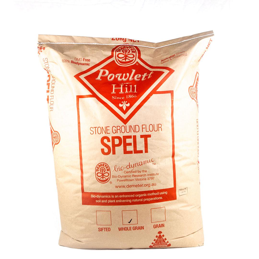 Flour – Spelt Wholegrain 20kg