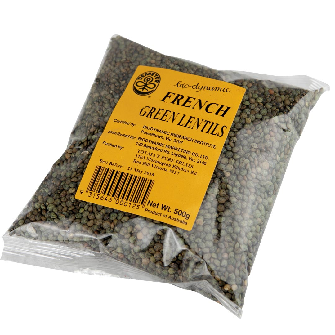 Lentils – French Green 500g