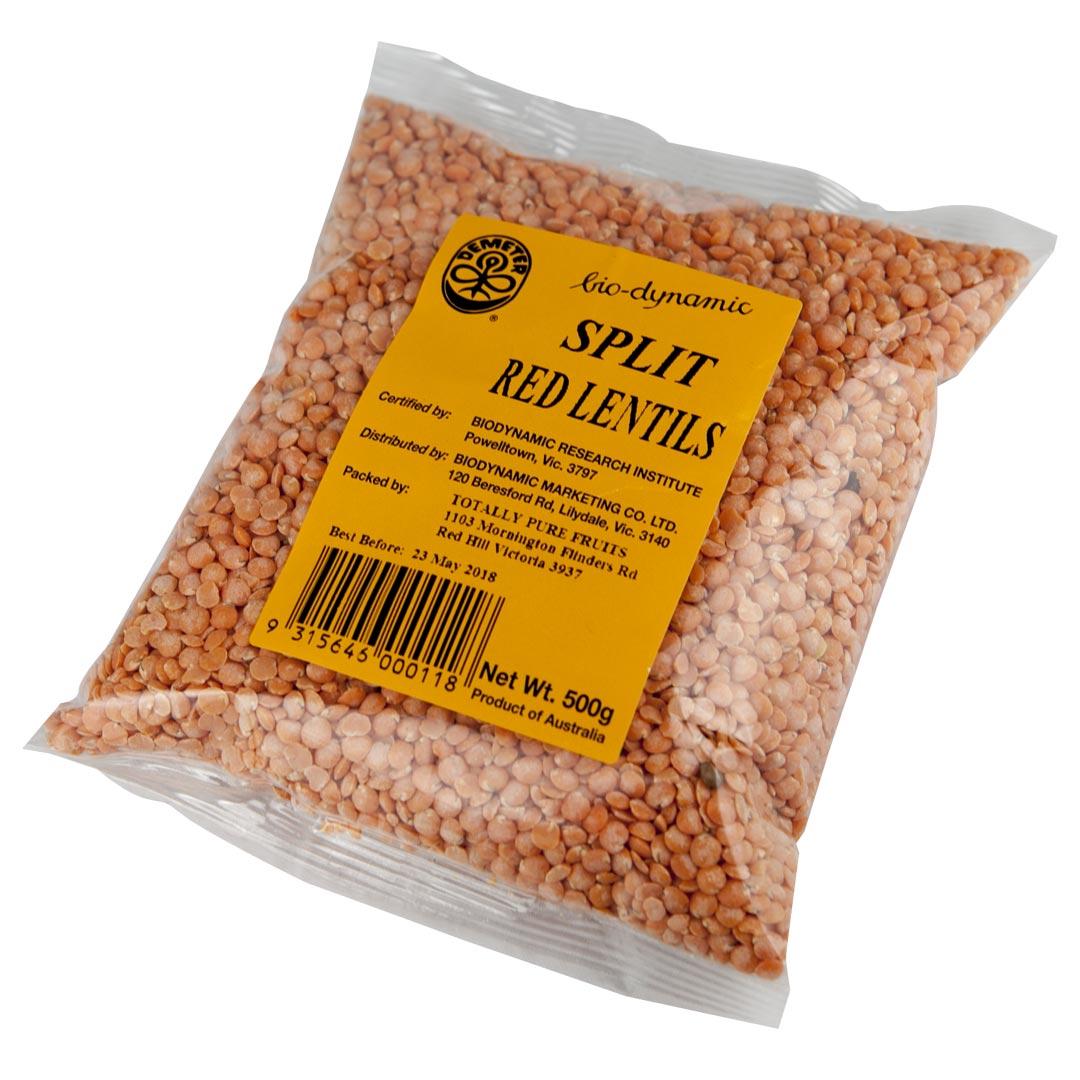 Lentils – Split Red 500g
