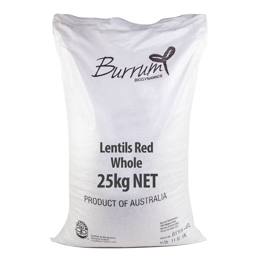 Lentils – Red Whole 25kg