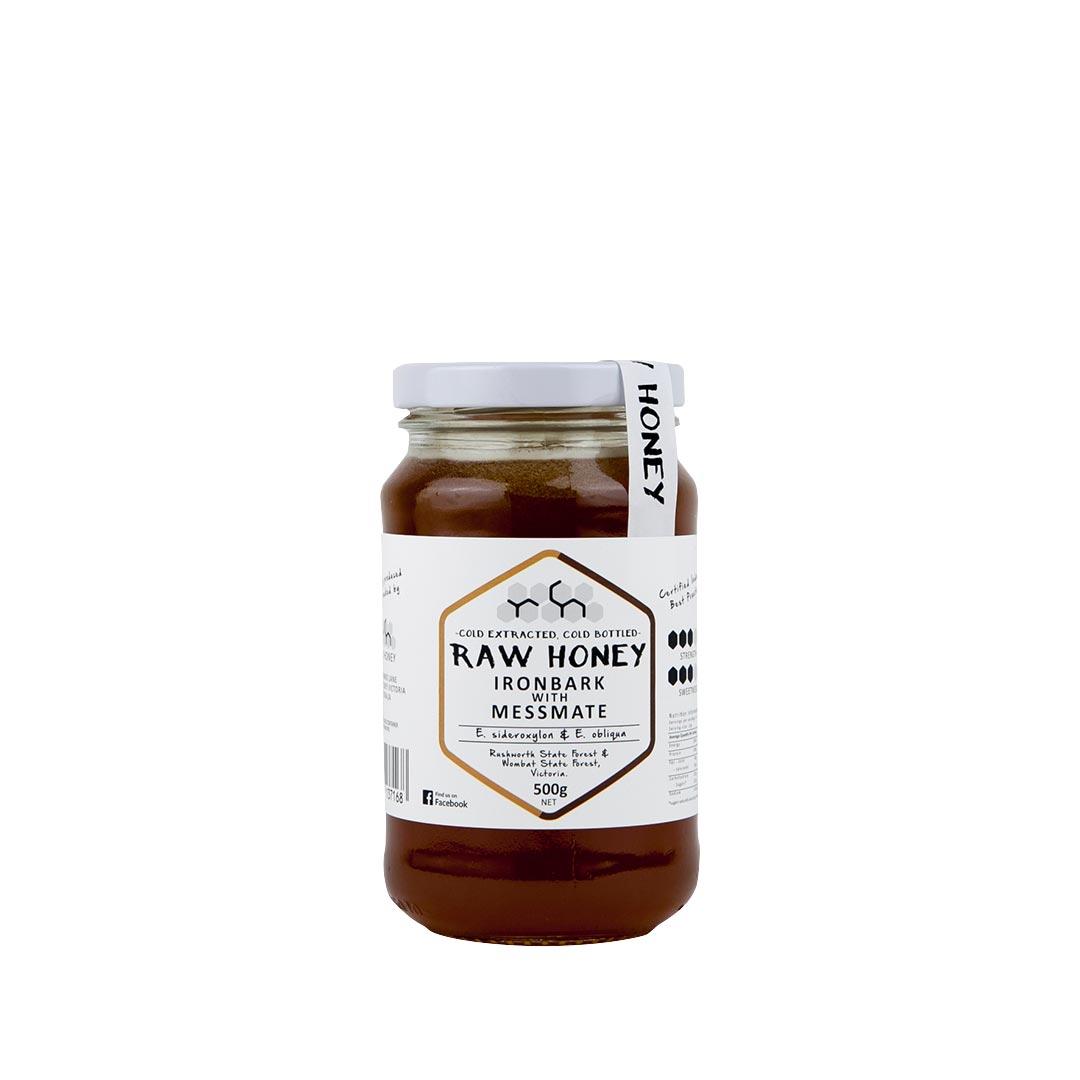 Raw Honey – Ironbark with Messmate 500g