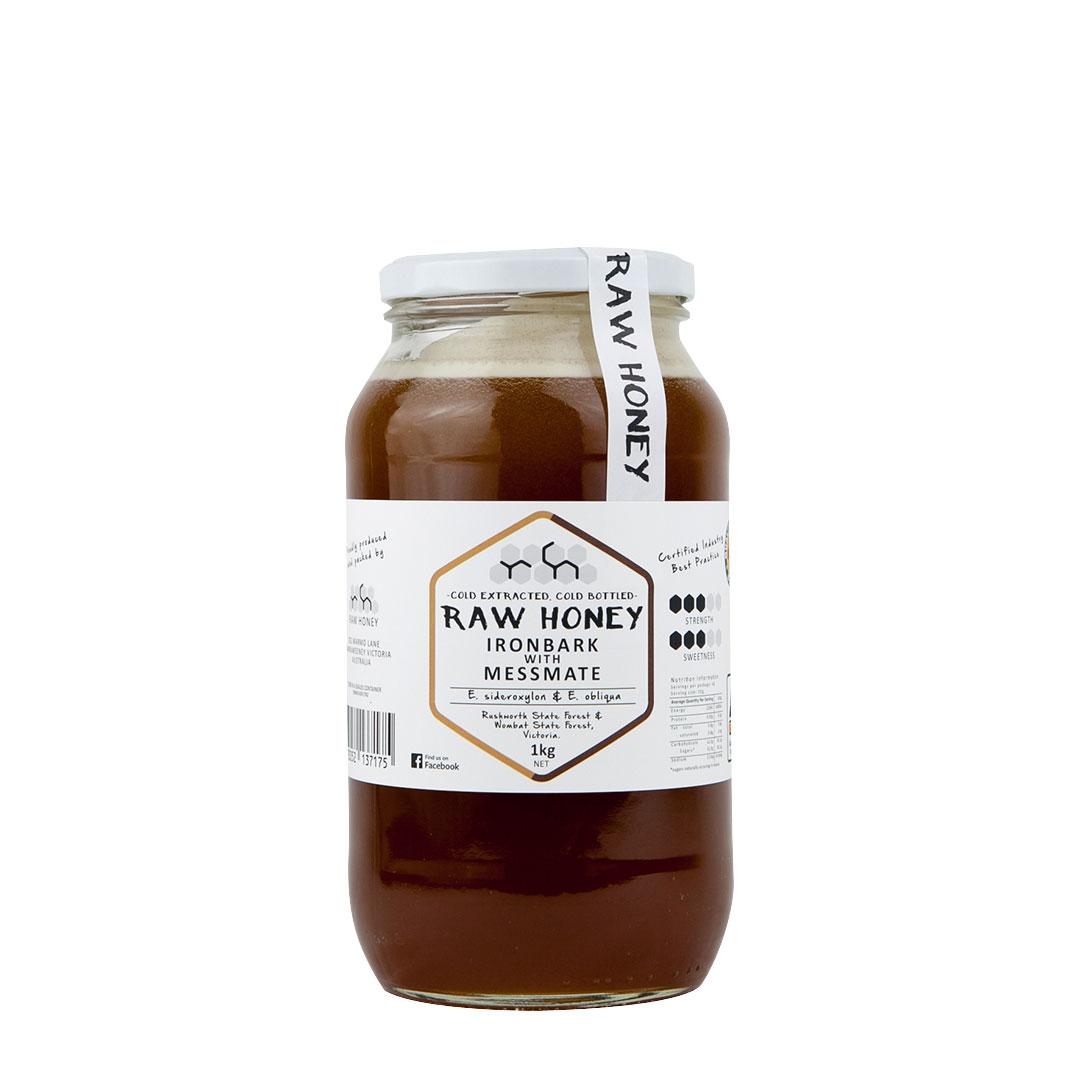 Raw Honey – Ironbark with Messmate 1kg