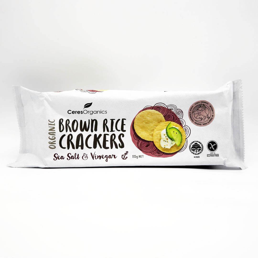 Crackers – Brown Rice Salt & Vinegar 12x115g