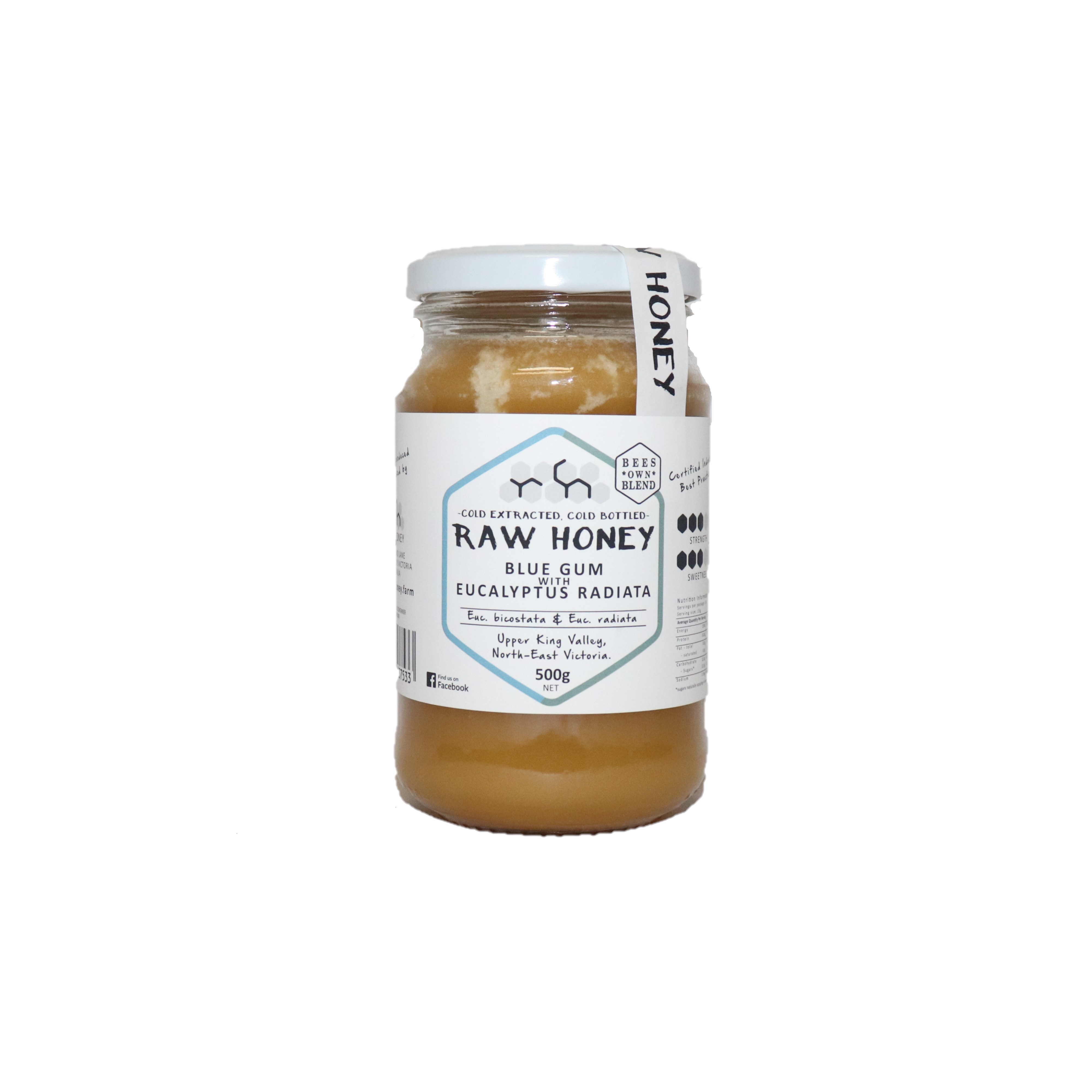 Raw Honey – Blue Gum with Eucalyptus 500g