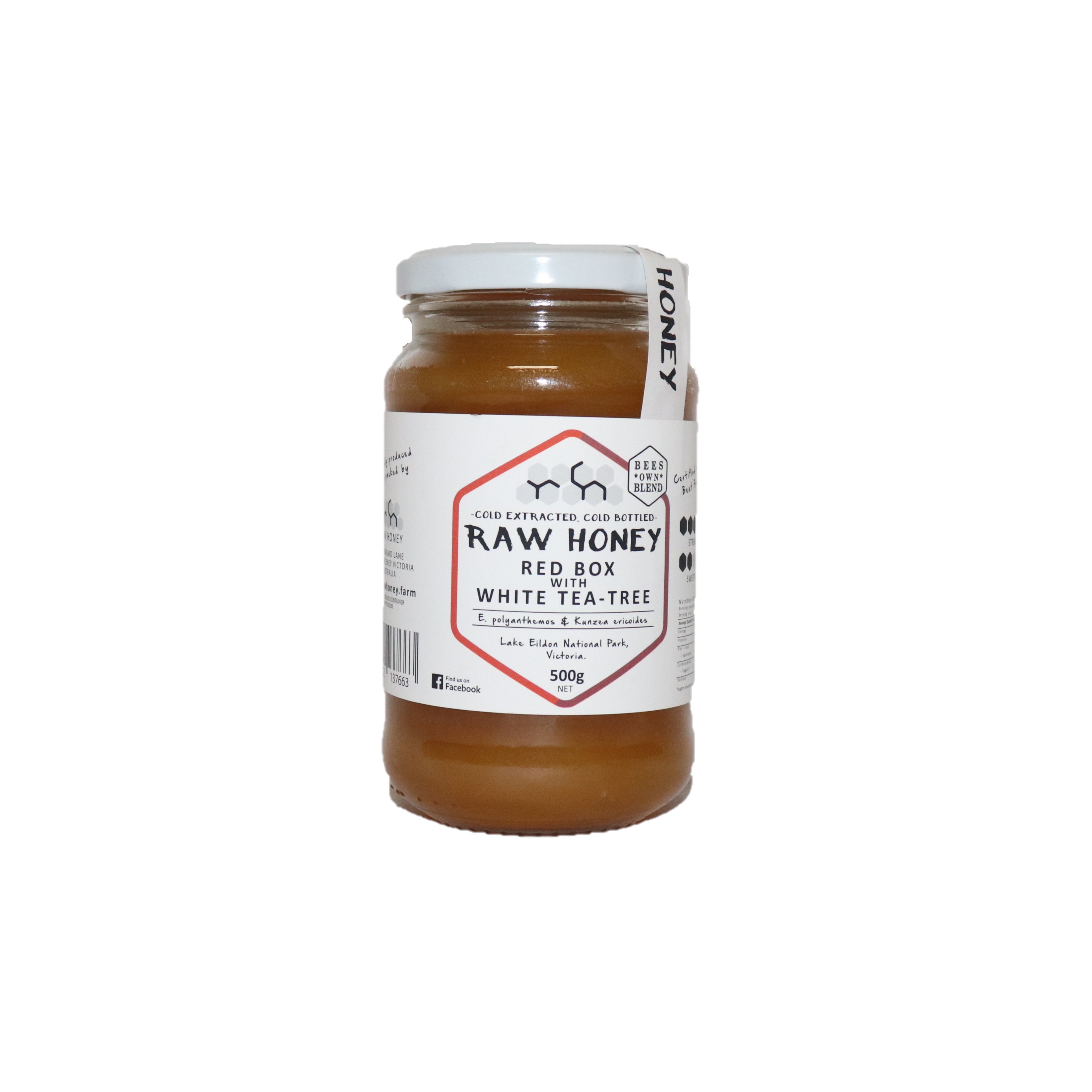 Raw Honey – Red Box with White Tea-Tree 500g