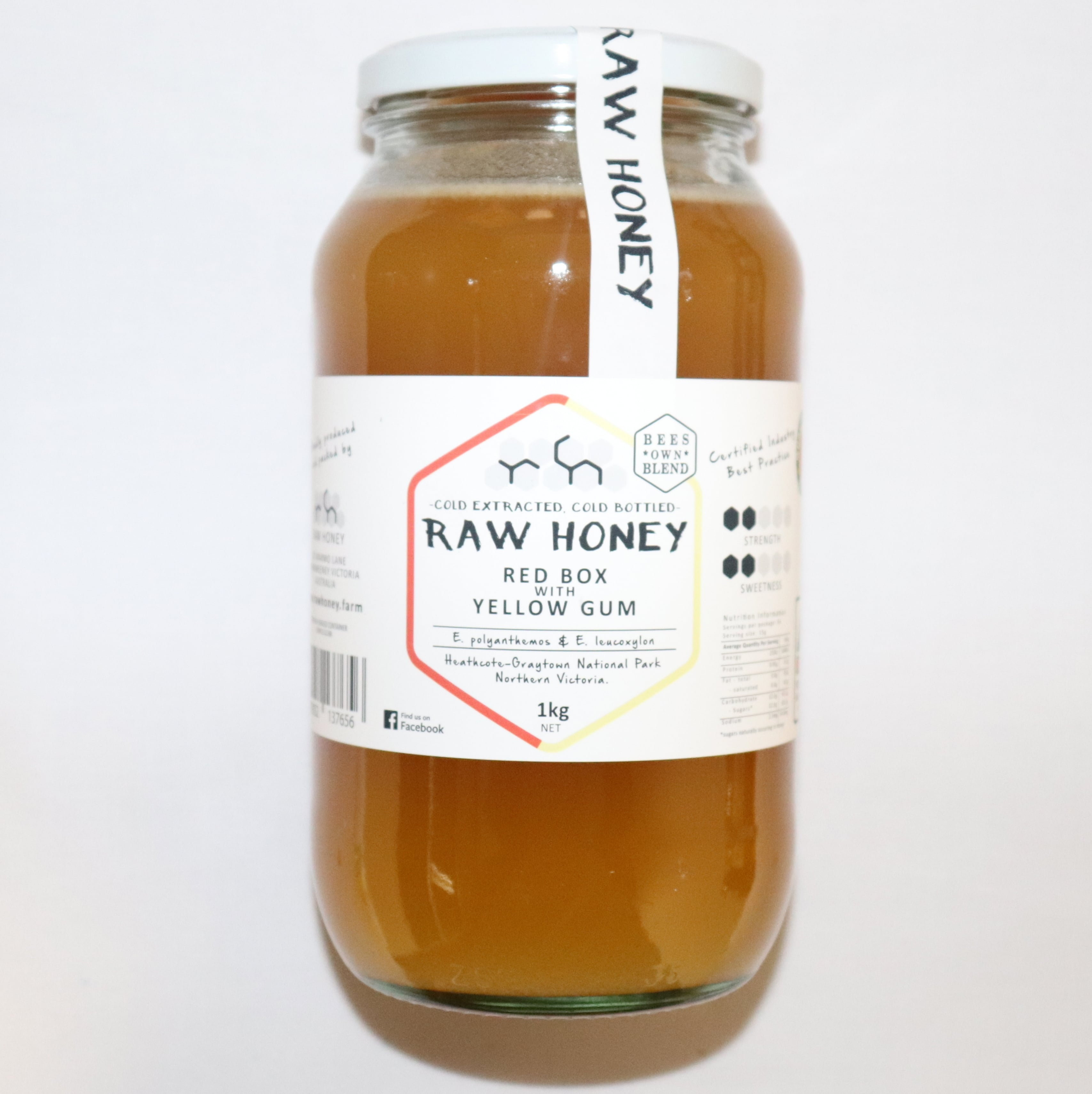 Raw Honey – Red Box with Yellow Gum 1kg