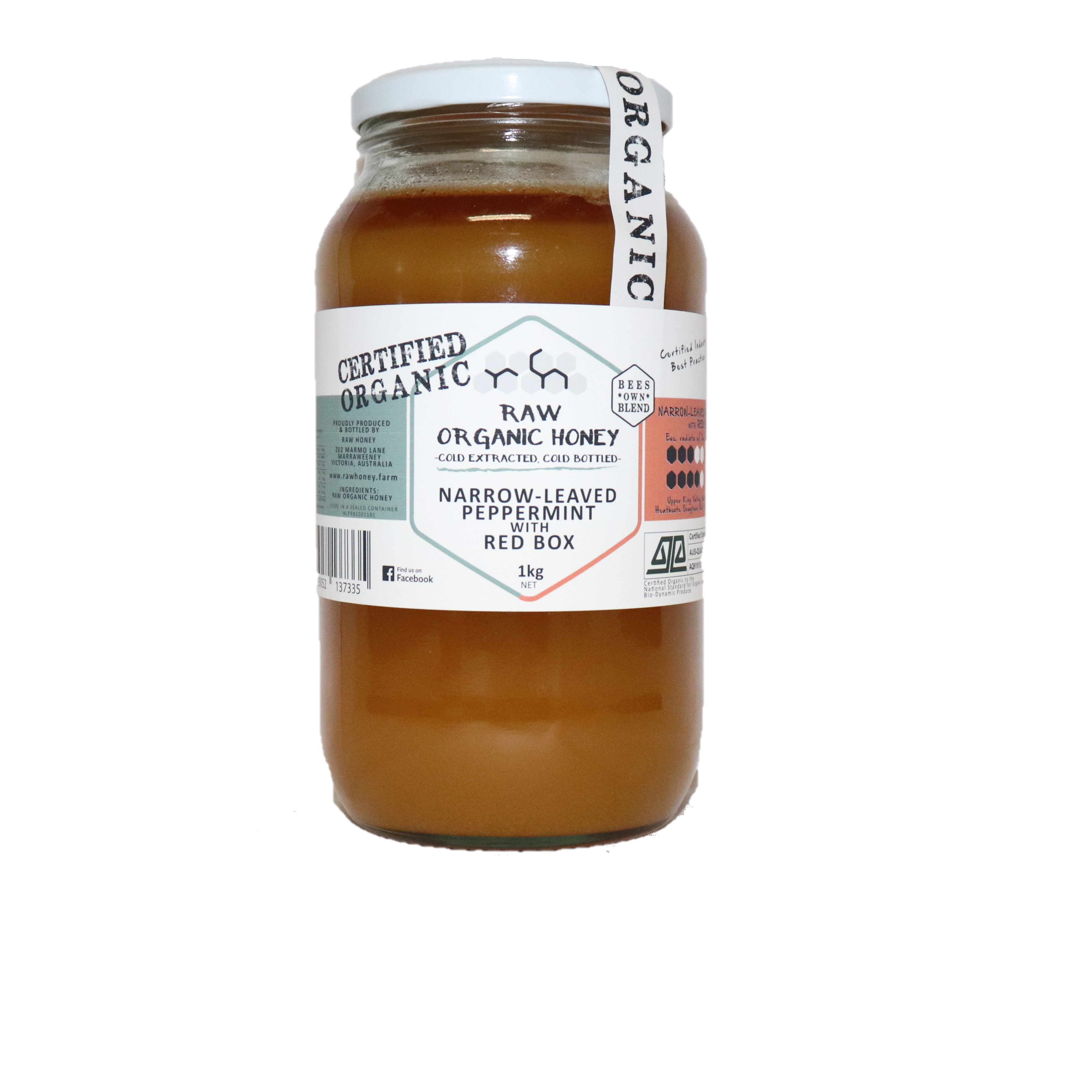Raw Honey – Narrow-Leaved Peppermint with Red Box 1kg