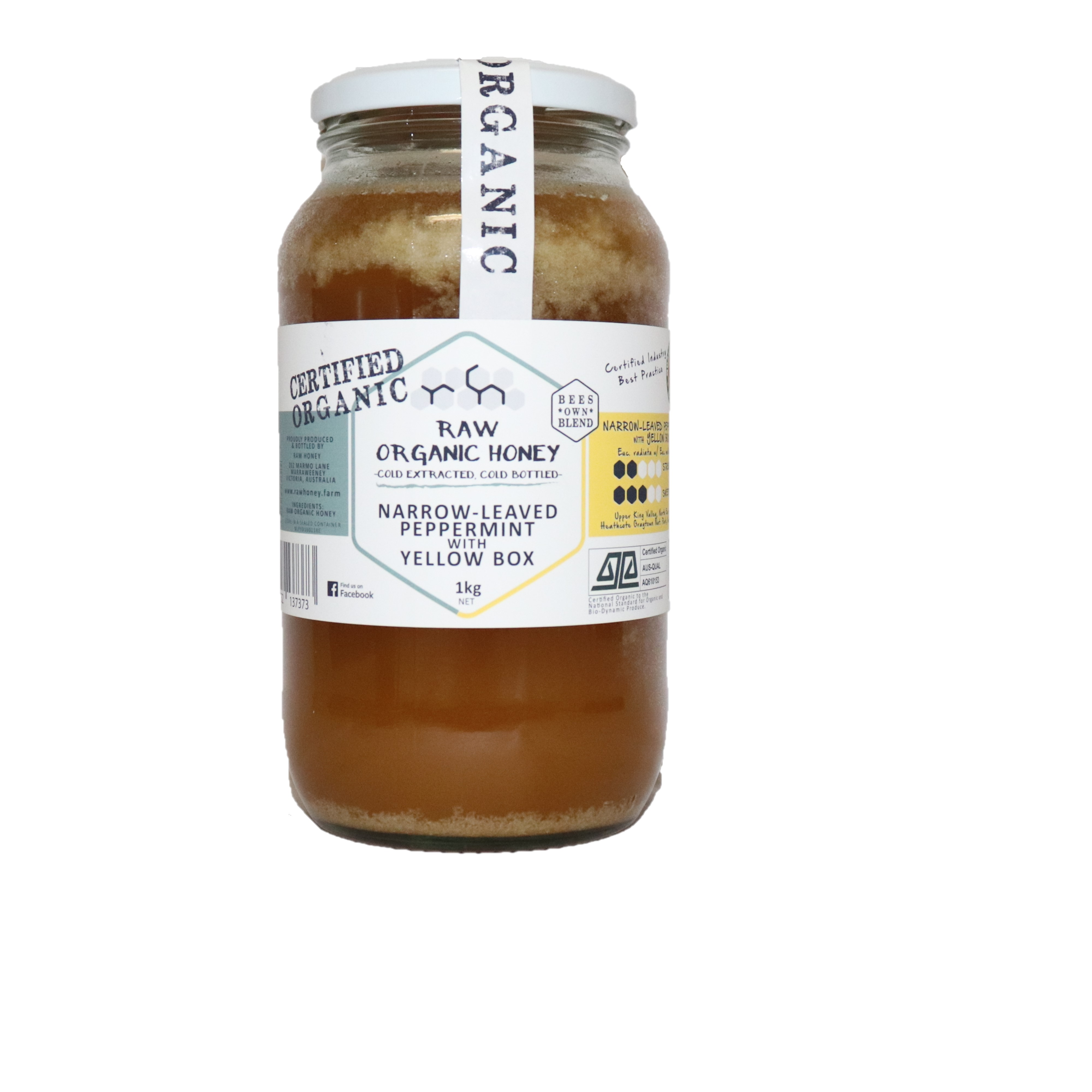 Raw Honey – Narrow-Leaved Peppermint with Yellow Box 1kg