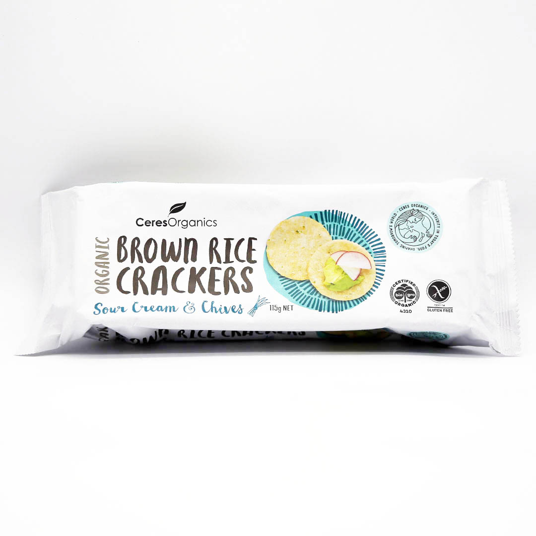 Crackers – Brown Rice Sour Cream & Chives 12x115g